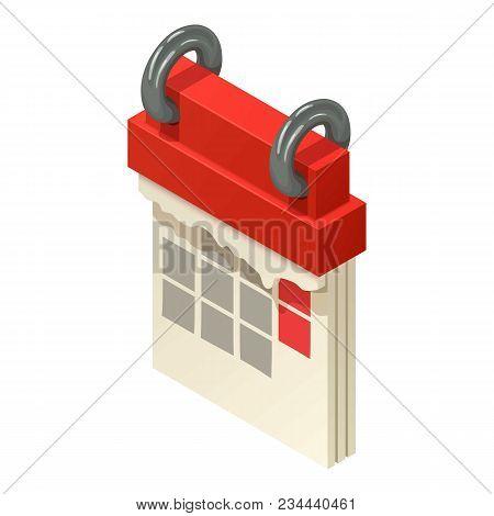 Turning Calendar Icon. Isometric Illustration Of Turning Calendar Vector Icon For Web