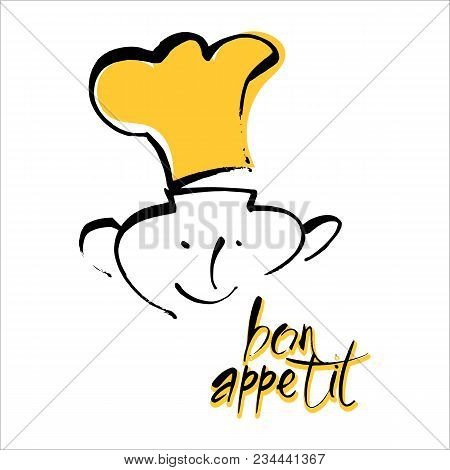Bon Appetit Graphic Logo Design. Vector Template.
