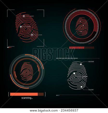 Visual Response Finger Print Scanning Illustration Science
