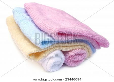 Close up of baby towel