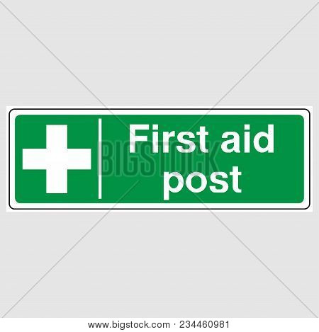 First Aid Post Signs. Green First Aid Post Sign.