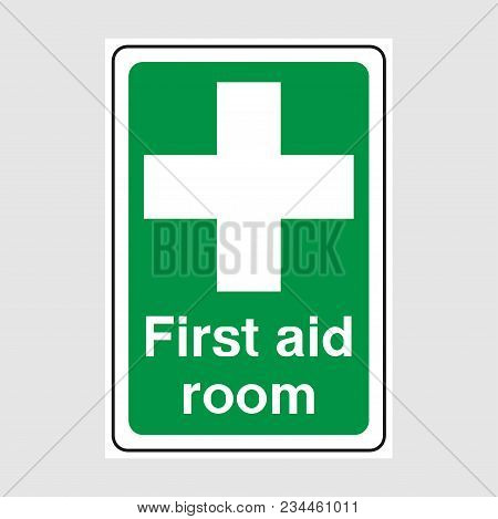 First Aid Room Signs. Green First Aid Sign.