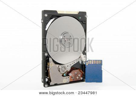 Hdd And Sd Flash Card