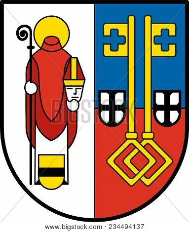 Coat Of Arms Of Krefeld Is A City In North Rhine-westphalia, Germany. Vector Illustration