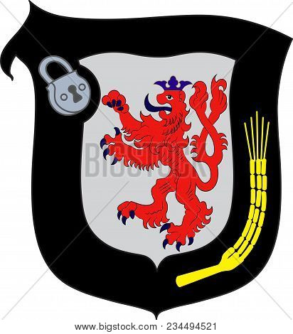 Coat Of Arms Of Mettmann Is A District In The Middle Of North Rhine-westphalia, Germany. Vector Illu