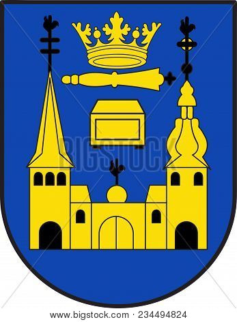 Coat Of Arms Of Mettmann Is A Town In The Northern Part Of The Bergisches Land, In North Rhine-westp
