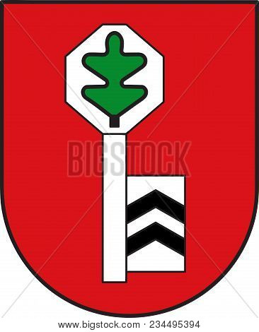 Coat Of Arms Of Velbert Is A Large Town In The District Of Mettmann, In North Rhine-westphalia, Germ