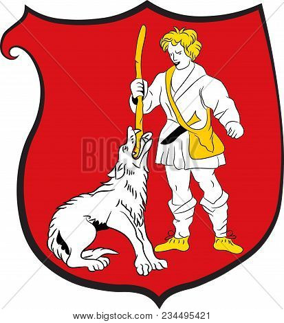 Coat Of Arms Of Wulfrath Is A Town In The District Of Mettmann In North Rhine-westphalia, Germany. V