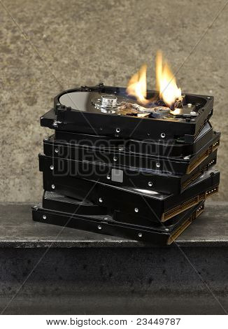 Burning Hard Drive