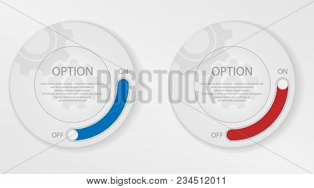 Infographic Elements, Circle With Options. Activating And Deactivating The Selected Option. Circle F