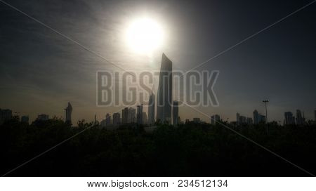 Cityscape Of The Kuwait City Under The Sun In Kuwait