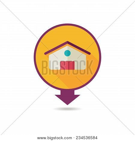 Barn Pin Map Icon. Farm Animal Map Pointer. Map Marker. Graph Symbol For Your Web Site Design, Logo,