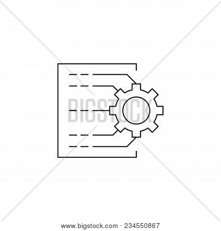 Automated Planning Icon. Outline Automated Planning Vector Icon For Web Design Isolated On White Bac