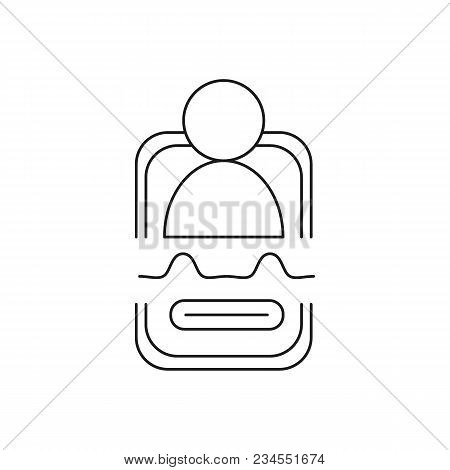 Personal Assistant Icon. Outline Personal Assistant Vector Icon For Web Design Isolated On White Bac