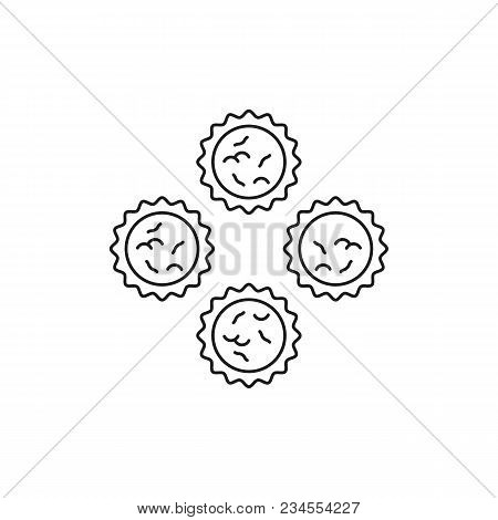 Butter Tarts Icon. Outline Butter Tarts Vector Icon For Web Design Isolated On White Background