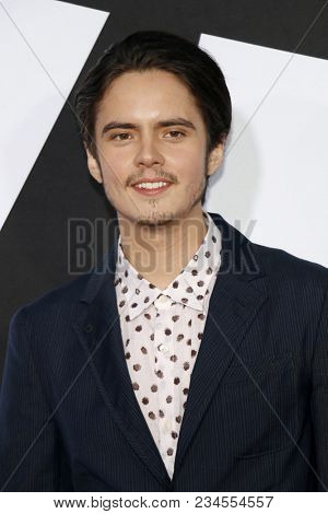 Miles Robbins at the Los Angeles premiere of 'Blockers' held at the Regency Village Theatre in Westwood, USA on April 3, 2018.