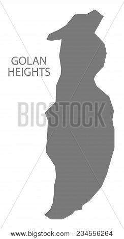 Golan Heights Map Of Syria Grey Illustration Shape