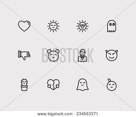 Emoji Icons Set Broken Heart Love Vector Photo Bigstock
