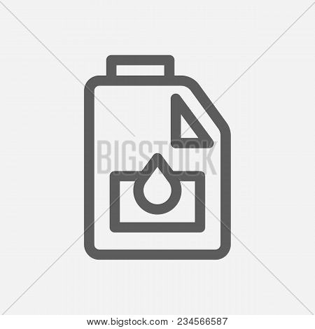 Engine Oil Icon Line Symbol. Isolated Vector Illustration Of Motor Oil Sign Concept For Your Web Sit