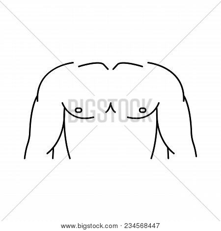 Chest Icon. Outline Chest Vector Icon For Web Design Isolated On White Background