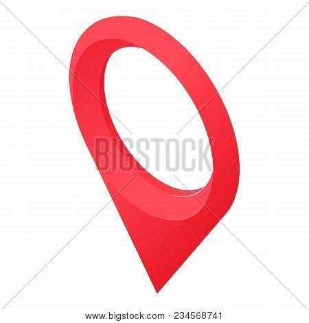 Destination Pin Icon. Isometric Illustration Of Destination Pin Vector Icon For Web