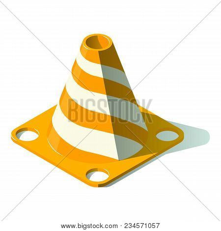 Forbidden Cone Icon. Isometric Illustration Of Forbidden Cone Vector Icon For Web