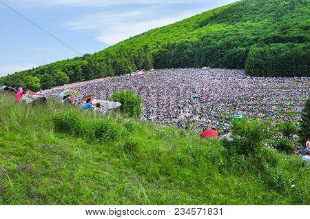 Catholic Pilgrims Gathering To Celebrate The Pentecost