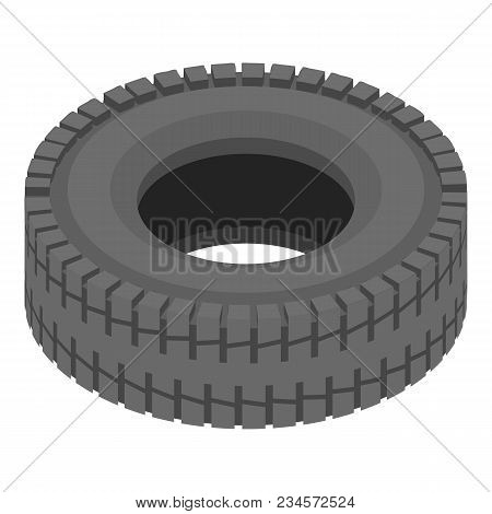 Tyre Icon. Isometric Illustration Of Tyre Vector Icon For Web