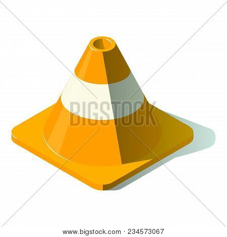 Attention Cone Icon. Isometric Illustration Of Attention Cone Vector Icon For Web