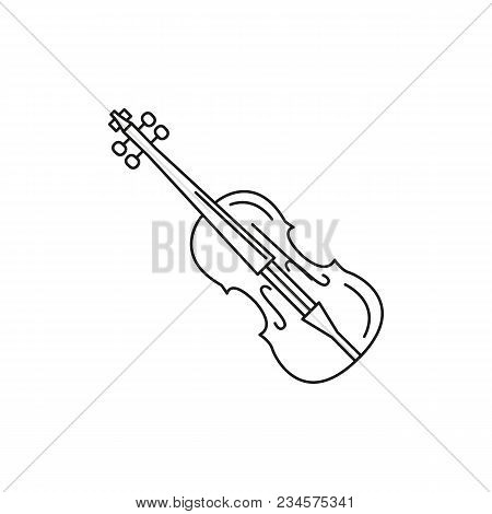 Violin Icon. Outline Violin Vector Icon For Web Design Isolated On White Background