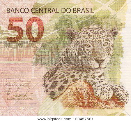 50 Reais Banknote From Brazil