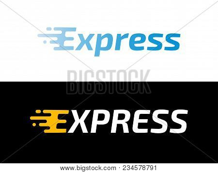 Transport Logistic Or Express Delivery Post Mail Logo For Courier Logistics Shipping Service. Vector