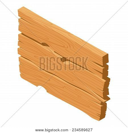 Wooden Panel Icon. Isometric Illustration Of Wooden Panel Vector Icon For Web