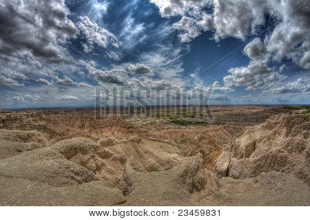 The violent Sky over the desert