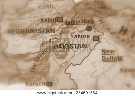 Pakistan, Officially The Islamic Republic Of Pakistan (sepia Selective Focus).