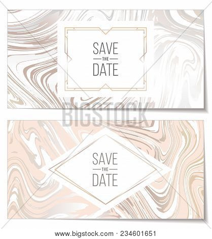 Marble Paper Texture Imitation, Suminagashi Ink Stains Background. Marbleized Pattern Vector. Weddin