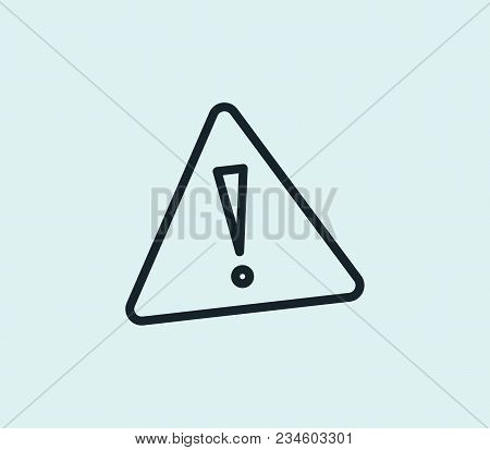 Alert Sign Icon Line Isolated On Clean Background. Alert Sign Icon Concept Drawing Icon Line In Mode