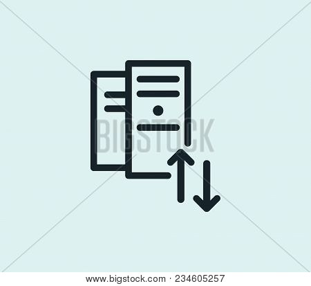 Hosting Icon Line Isolated On Clean Background. Datacenter Concept Drawing Icon Line In Modern Style