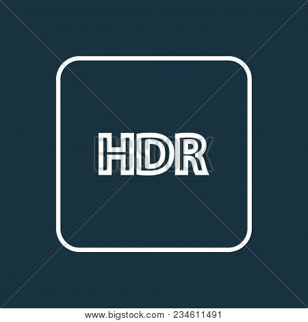 High Dynamic Range Icon Line Symbol. Premium Quality Isolated Hdr Element In Trendy Style.