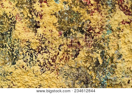 The Rough Granular And Motley Textured Stone Surface For An Abstract Background Or For Wallpaper