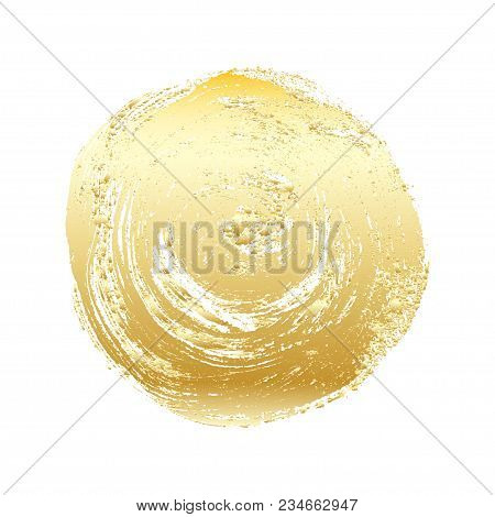 Gold Grunge Vector Circle. Vector Element For Different Design