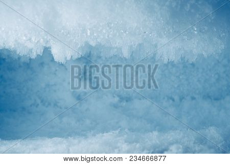 icy frost background in freezer