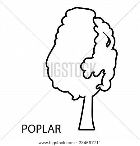 Poplar Icon. Outline Illustration Of Poplar Vector Icon For Web