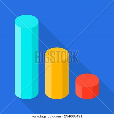Increase Of Diagram Icon. Flat Illustration Of Increase Of Diagram Vector Icon For Web