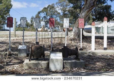 Williamstown, South Australia, Australia - September 30, 2017: A Historical Look At The Various Wate