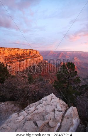 Sunset view of the Grand Canyon National Park