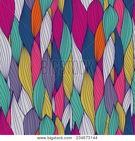 Seamless Wave Hand-drawn Pattern, Waves Background Seamlessly Tiling .can Be Used For Wallpaper, Pat