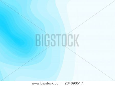 Abstract Blue And White Topographic Contours Lines Of Mountains. Topography Map Art Curve Line Drawi