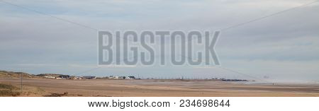 Seascape Photo Of A Sandy Beach On A Winters Day