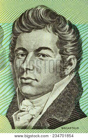 John Macarthur Portrait From Old Australian Money